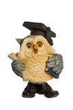 Statuette beige owl symbol of knowledge Stock Photo
