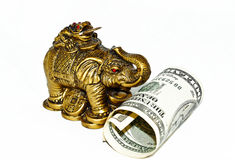 Statuette of the bronze elephant Royalty Free Stock Photos