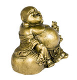 Statuette of buddha. Bronze, isolated on white Stock Photos
