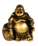 Statuette of buddha. Bronze, isolated on white royalty free stock images