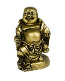 Statuette of buddha. Gold, isolated on white stock image