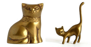 Statuette of the cat Stock Photo