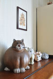Statuette cats Stock Photography