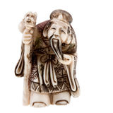 Statuette of Chinese  god of wealth - Tsai Shen Stock Image