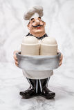 Statuette of a Cook with Shakers Stock Photo