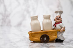 Statuette of a Cook with Shakers Stock Photos