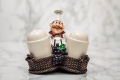 Statuette of a Cook with Shakers Royalty Free Stock Image