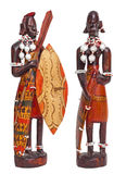 Statuette of a couple masai tribe warriors Stock Image
