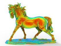 Statuette de cheval colorée par arc-en-ciel illustration stock