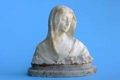 Statuette de mármore de Madonna Fotos de Stock Royalty Free