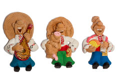 Statuette de trois amis ukrainiens Image stock