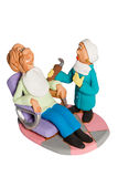 Statuette dentist and patient Stock Image
