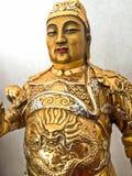 Statuette des legendären Chinesen Liu Pei God des Krieges Stockbild