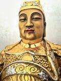 Statuette des legendären Chinesen Liu Pei God des Krieges Lizenzfreies Stockfoto