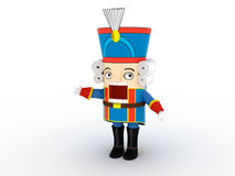 Statuette do Nutcracker   3D Imagem de Stock Royalty Free