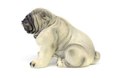 Statuette of dog  isolated on white background Royalty Free Stock Images
