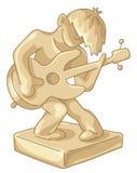 Statuette dourado do jogador de guitarra Fotos de Stock Royalty Free
