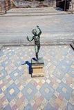Statuette du faune de danse à Pompeii Image stock
