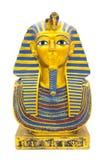 Statuette du pharaon égyptien sur un fond blanc pur image stock