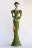 Statuette francês de madeira fotografia de stock royalty free