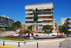 Βασίλισσα statuette θαλασσών, Fuengirola Στοκ Φωτογραφίες