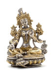 Statuette of Green Tara on a white background. Stock Photography