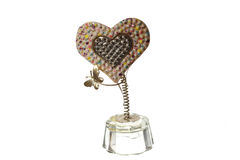 Statuette of a heart Valentine's Day. On white background stock photos
