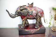Statuette of the Indian elephant Stock Images