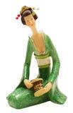 Statuette japonês da mulher imagens de stock royalty free