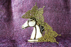 Statuette of king horse Royalty Free Stock Images