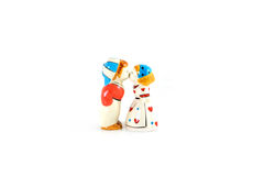 Statuette of kissing couple Royalty Free Stock Photo