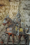 Statuette of a knight Royalty Free Stock Photos