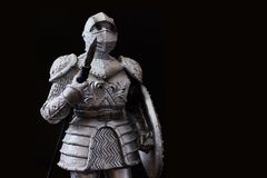 Statuette knight Stock Photography