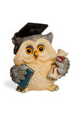 Statuette owl symbol of knowledge Royalty Free Stock Photography