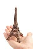 Statuette pequeno da torre Eiffel imagem de stock royalty free
