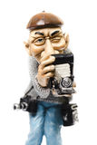 Statuette of photographer Stock Photos