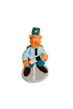 Statuette of policeman top view Stock Photography