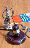 Statuette of Themis, gavel, vaults, the Constitution of the Russ Stock Image