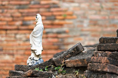 Statuette of a woman. In Wat Racha Burana, Ayutthaya Stock Photos