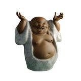 Statuette Zen. Asiatique souriant bras levés Royalty Free Stock Photography