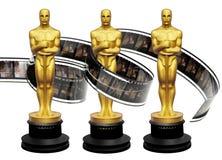 Statuettes βραβείων Oscars με την ταινία κινηματογράφων ελεύθερη απεικόνιση δικαιώματος