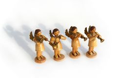 Statuettes Angels musicians Stock Photography
