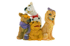 Statuettes Ceramic dogs Royalty Free Stock Photo