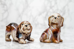 Statuettes of Cute Dogs Stock Photo