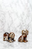 Statuettes of Cute Dogs Royalty Free Stock Photos