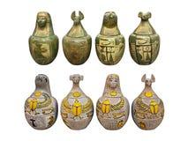 Statuettes egípcios Fotografia de Stock