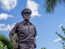 Stature of Admiral Nimitz. OAHU, HI - AUG 5, 2016: Stature of Admiral Nimitz at the USS Missouri on August 5, 2016 in Pearl Harbor, USA. He played a major role Royalty Free Stock Image