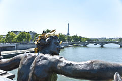 A stature in Paris. Royalty Free Stock Photography