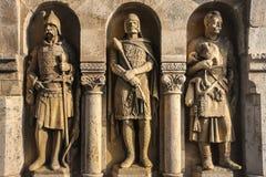 Statures decorating Fisherman bastion, Budapest Royalty Free Stock Photos