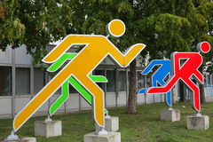 Statures olympiques colorées Photographie stock libre de droits